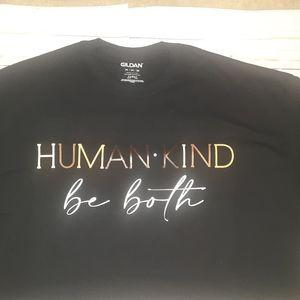 """""""HUMAN•KIND be both"""" Custom Unisex Tees"""
